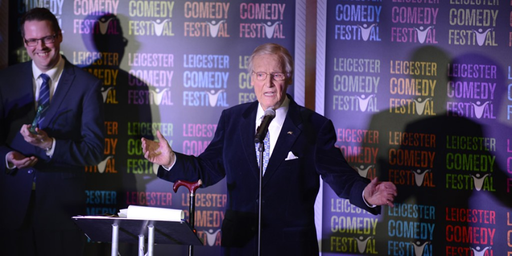 Nicholas Parsons collects Legend Of Comedy Award